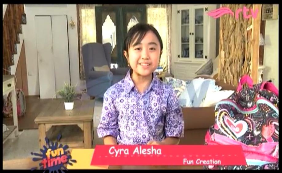 Fun Creation Fun Time RTV - Cyra membuat gelas Dory