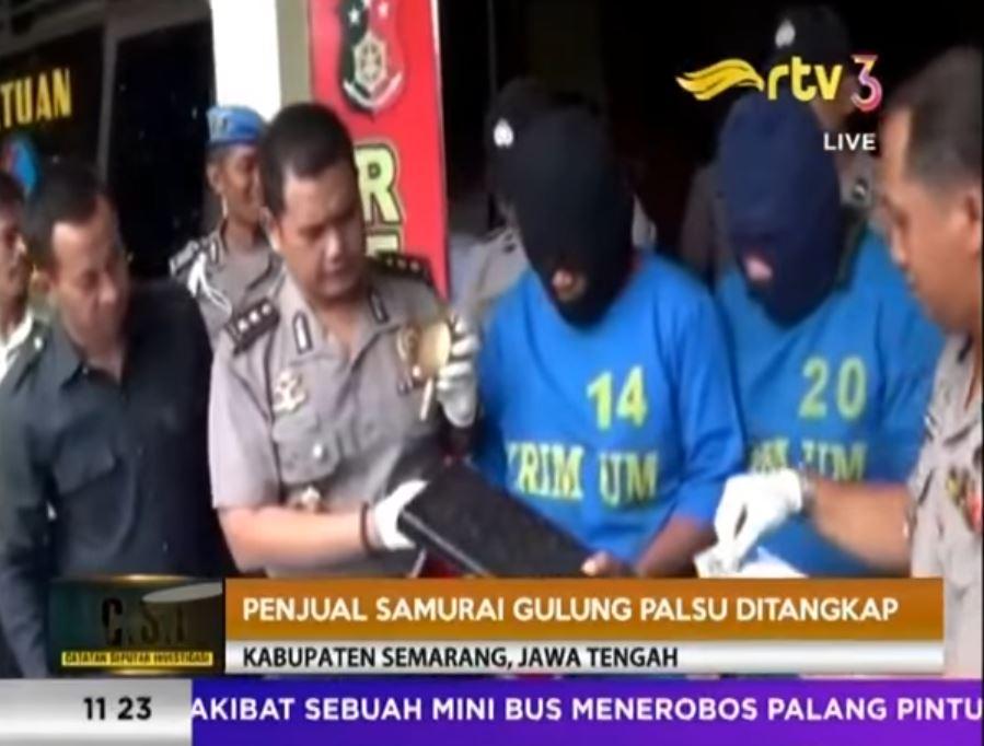 PENIPU SAMURAI GULUNG PALSU DITANGKAP POLISI [ CSI RTV 24 APRIL 2017]